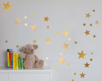 Gold Stars Wall Decal
