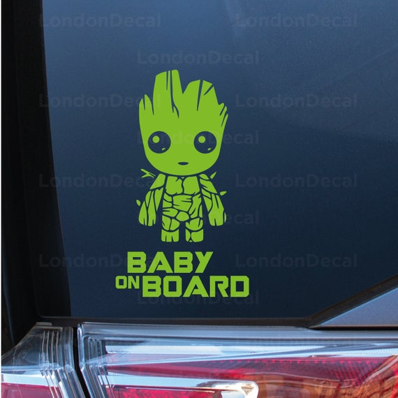 Mickey Mouse Baby on Board Kids Car Van Bumper Stickers Decals FREE P+P