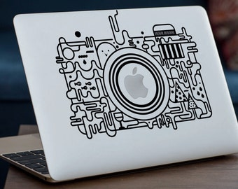 "FUNKY CAMERA MacBook Decal Sticker fits 11"" 13"" 15"" and 17"" models"