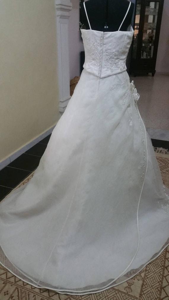 and organza off organza bridal dress dancer white in style veil Elegant a47wYq