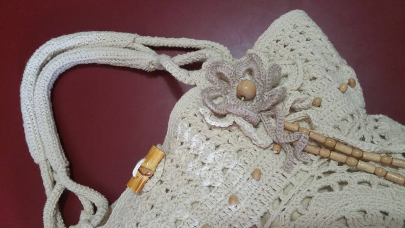 made in France tote bag bohemian Bag TRENDY nature for this summer woman/'s hook bag Hand made perfect for the beach or city. gift