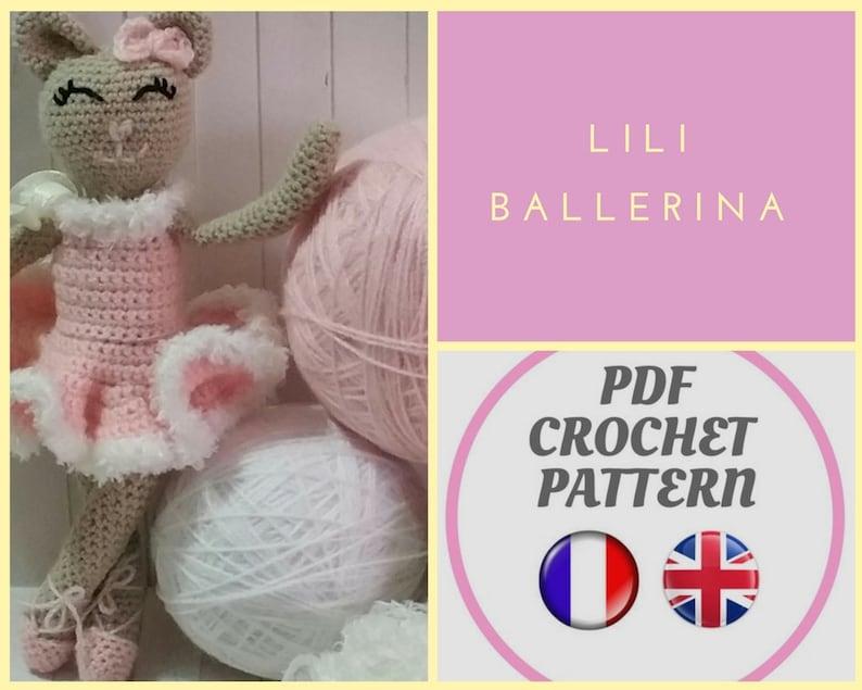 cat amigurumi pattern Ballerina LILI the Tiny cat crochet pdf pattern child bedroom baby bedroom cudly toy gift birth