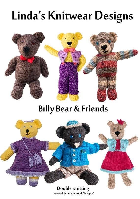 Billy Bear and friends PDF knitting pattern Teddy bears | Etsy