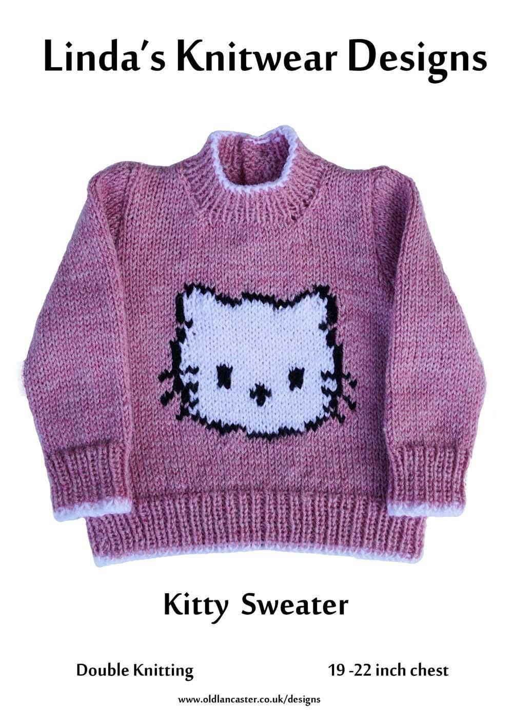 Children\'s Kitty cat Motif Knitting Pattern Child\'s | Etsy