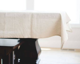 Neutral Linen Tablecloth