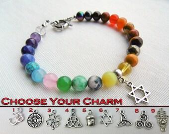 Chakra Bracelet For Men, Mens Chakra Bracelet, Mens Mala Bracelet, 7 Chakra Bracelet, Yoga Jewelry, Mens Jewelry, Mens Beaded Bracelet,