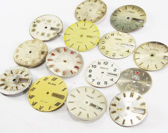 Steampunk ladies watch faces for crafts assemblage supply diy altered art industrial style cheap watch findings supplies unique watch faces