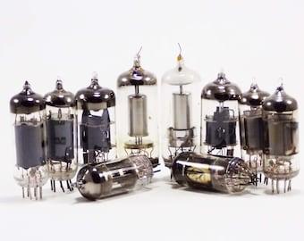 Vintage Electronics Altered Art Destash Industrial Supplies Radio Glass Lamp Vacuum Tubes Techie Gift Radio Tube Radio Parts