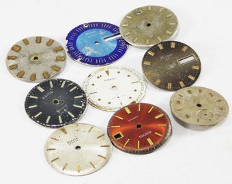 Vintage watch faces parts clock dial arts metal number rusty decor steampunk decor old watch repair watch parts used watches for crafts