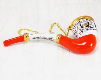 tobacco pipe glass pipe ceramic pipe smoking pipe tobacco bowl ceramic present man wall decor old collectible vintage pipe old pipe rare