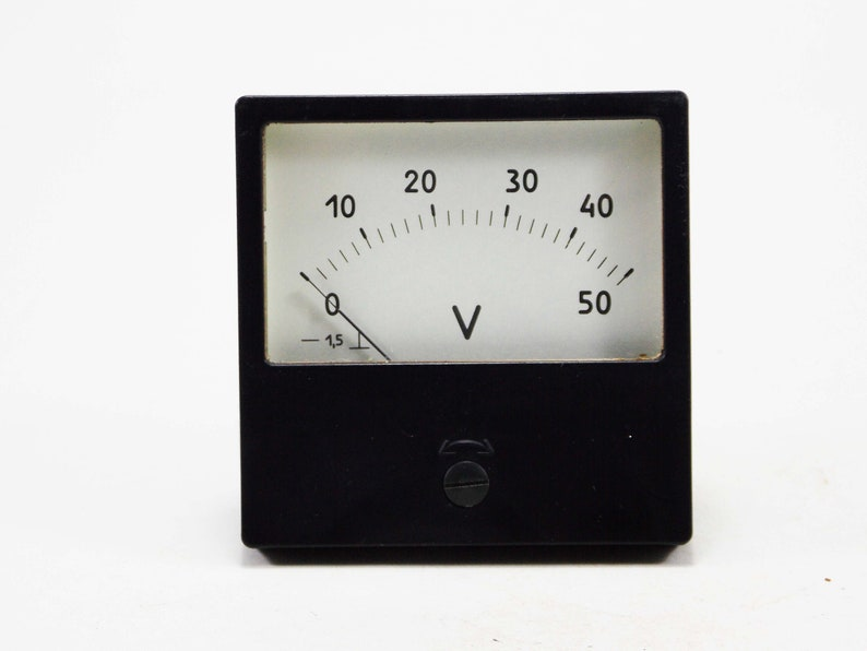 electronic device voltmeter ammeter antique industrial tools image 0