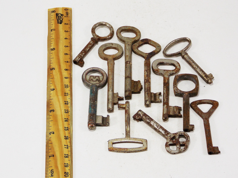 Primitive Key Steampunk Keys Iron Keys Hand Stamped Unique Key Etsy