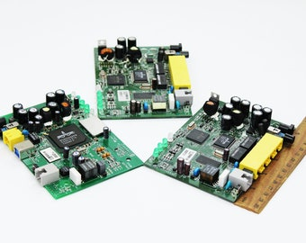 circuit electronic boards computer parts office decor computer chips steampunk crafting vintage electronic gadgets motherboard light board