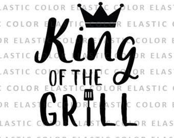 Coloriage Fille Barbecue.King Of The Grill Svg Etsy