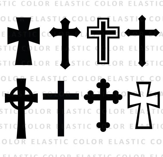 Cross svg silhouette files Christian Svg crosses vector   Etsy