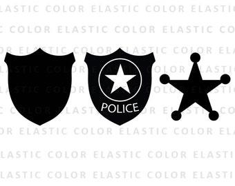 Police badge svg file - police badge clipart - sheriff badge clip art vector digital files svg, png, dxf, eps