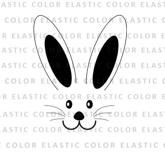 picture about Bunny Face Printable identify Bunny deal with svg history - rabbit encounter printable easter clipart style and design and slash record for cricut and cameo record svg, png, dxf, eps