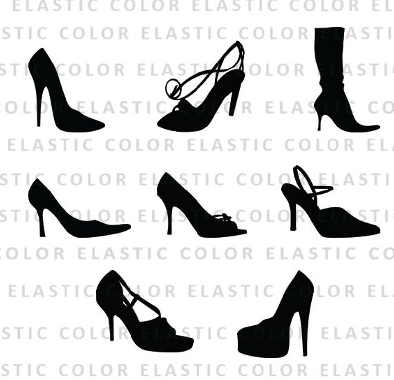 High Heels Svg High Heels Clipart Shoes Vector Files Clip Etsy