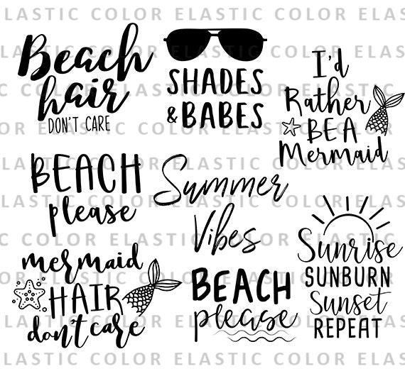 e36b4e8f7 Summer bundle svg, beach bundle svg designs, beach life, beach cricut and  cameo files svg, png, dxf, eps