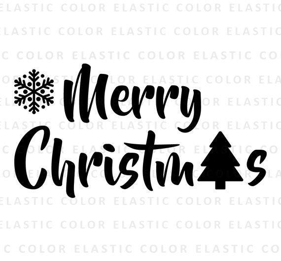 Merry Christmas Word Art Png.Christmas Svg Merrry Christmas Word Art Print And Cut File For Cameo And Cricut Svg Png Dxf Eps