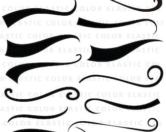 Swoosh svg - font tail- underline svg file digital download  - Swoosh Cricut cut file -text tail svg, eps, dxf, png