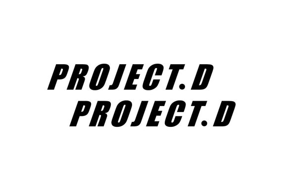 car window Project d initial d jdm racing sticker vinyl decal bumper doors