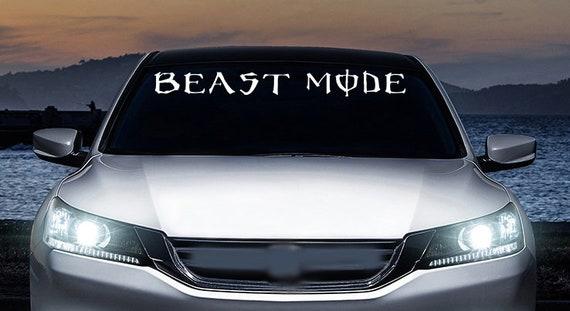 """BEAST MODE ON Decal Sticker JDM Funny Vinyl Car Window Bumper Truck Laptop 7/"""""""