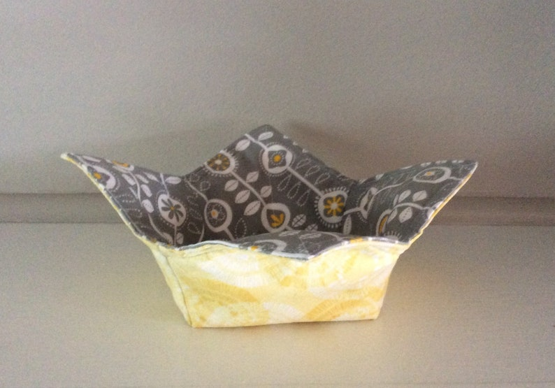 Reversible Premium Cotton Microwave Bowl HoldersCozies No More Burnt  Cold Fingers Protect Non-Stick Pans BabsFabs