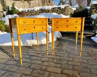 West Hill 2-Drawer Stand with Turned Legs