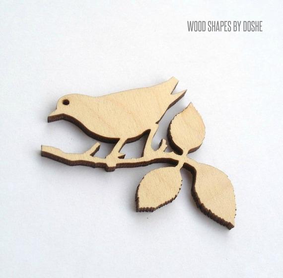 gold embossed decorative birds lazer cut wood