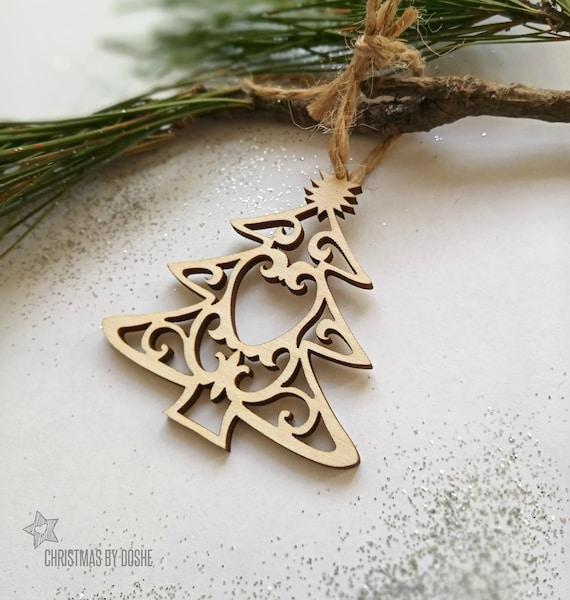 Etsy Christmas Ornaments.Christmas Ornaments Laser Cut Wood Decor