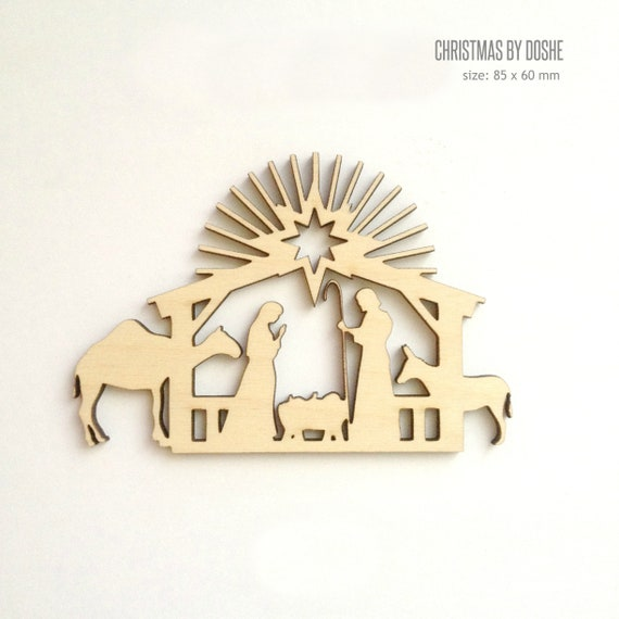 Jesus Christmas Decorations.Baby Jesus Ornament Laser Cut Wood Christmas Ornaments
