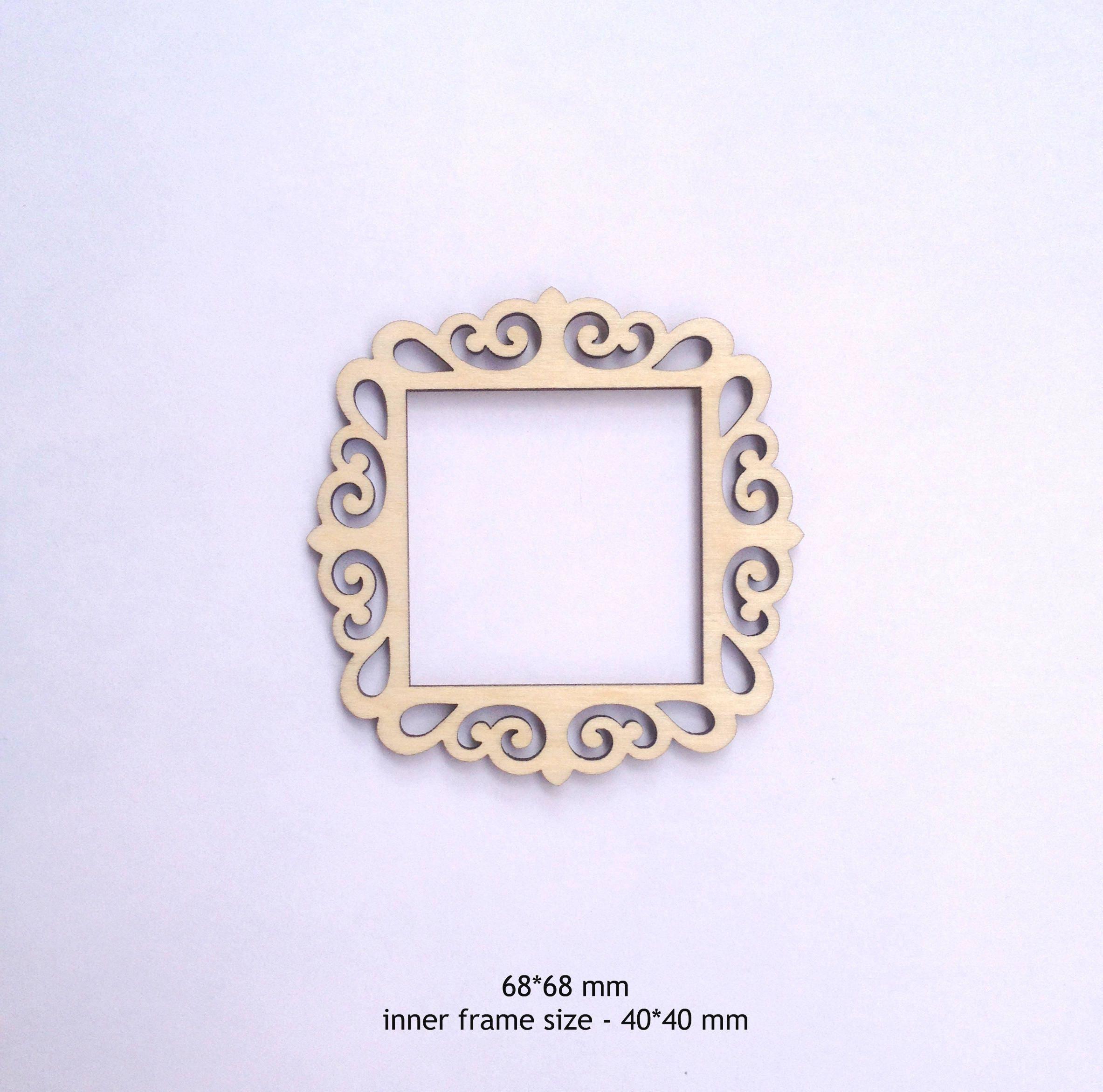 Square Scrapbook frame for your Art / Laset cut frames / Photo ...
