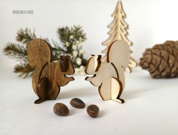 Charmant laser 3D coupe écureuil / Woodland écureuil / écureuil figurine / animaux de la forêt / bois animaux / Woodland forest / écureuil cadeau