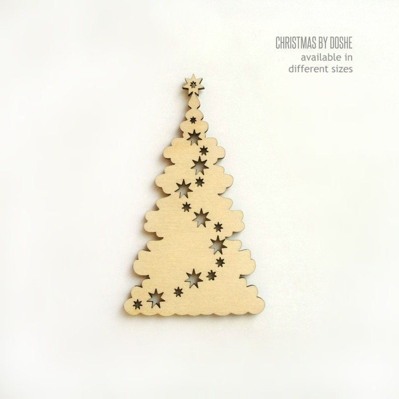 Wood Christmas Tree Ornament Ready To Paint Laser Cut Ornaments