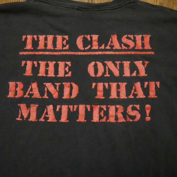 The Clash Vintage T-Shirt Oneita XL The Only Band… - image 8