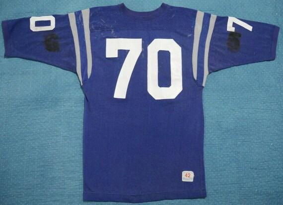 Vintage Champion 60s Shirt Jersey Durene Blue Hand