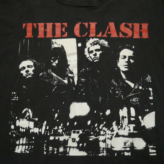 The Clash Vintage T-Shirt Oneita XL The Only Band… - image 4