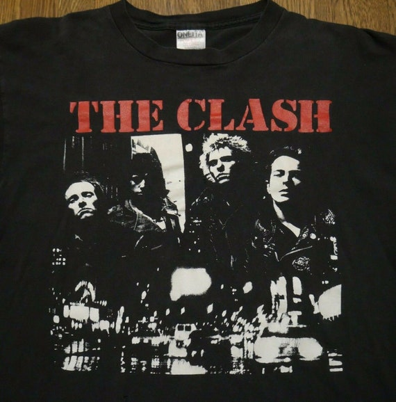 The Clash Vintage T-Shirt Oneita XL The Only Band… - image 1