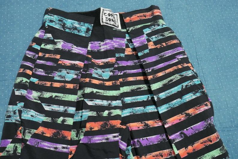 Vintage 80s New Wave Neon MC HAMMER BAGGY Parachute Pants Surf Medium Colorful