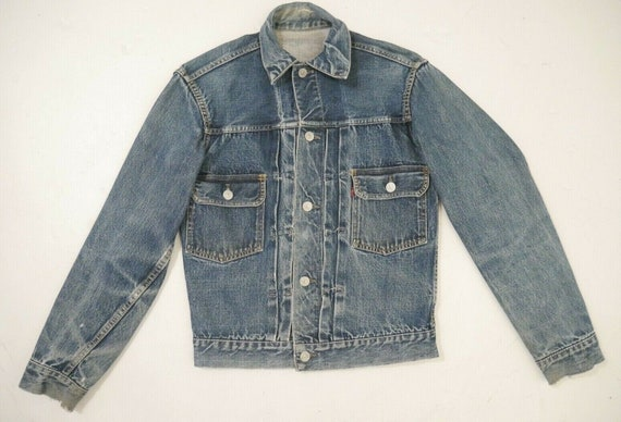Vintage 50s LEVI'S Big E Type 2 Selvedge Denim Jac