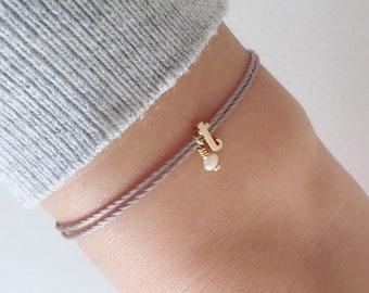 Monogram bracelet, friendship bracelet, bridesmaid bracelet, gold bracelet