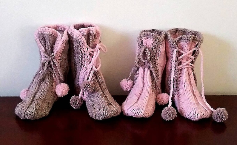 027b50ad8647f Exclusive!!! Twins Wool Socks Slippers Gift Set Hand Knitted,Gift  Box,Adults Booties,Kids Slippers,Girls Socks,Kids Socks,Handmade,UK Seller