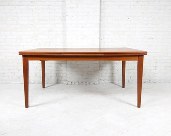 Mid Century Modern Dining Table Etsy - Large mid century modern dining table