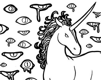 the last unicorn colouring page lady amalthea colouring etsy