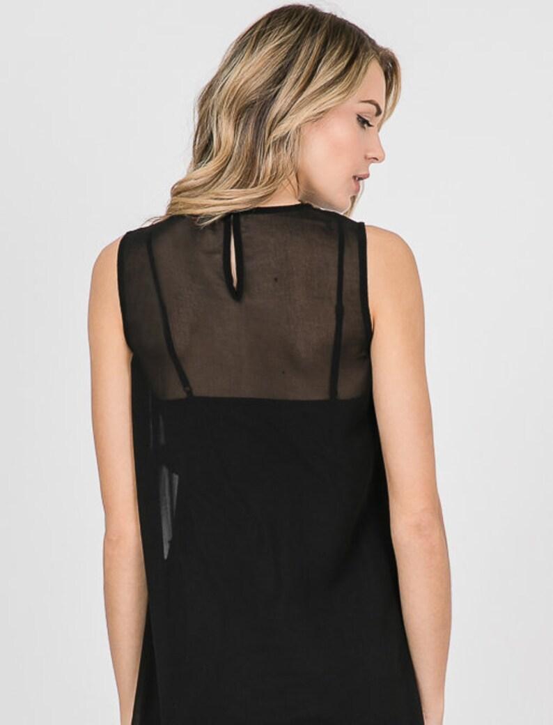 Black Sleeveless Dress See-Through Women Dress Chic Dress Comfortable Wear Regular Price