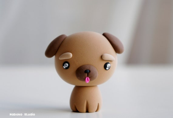 Dog Figurine Birthday Cake Topper Baby Mutt Kawaii Puppy