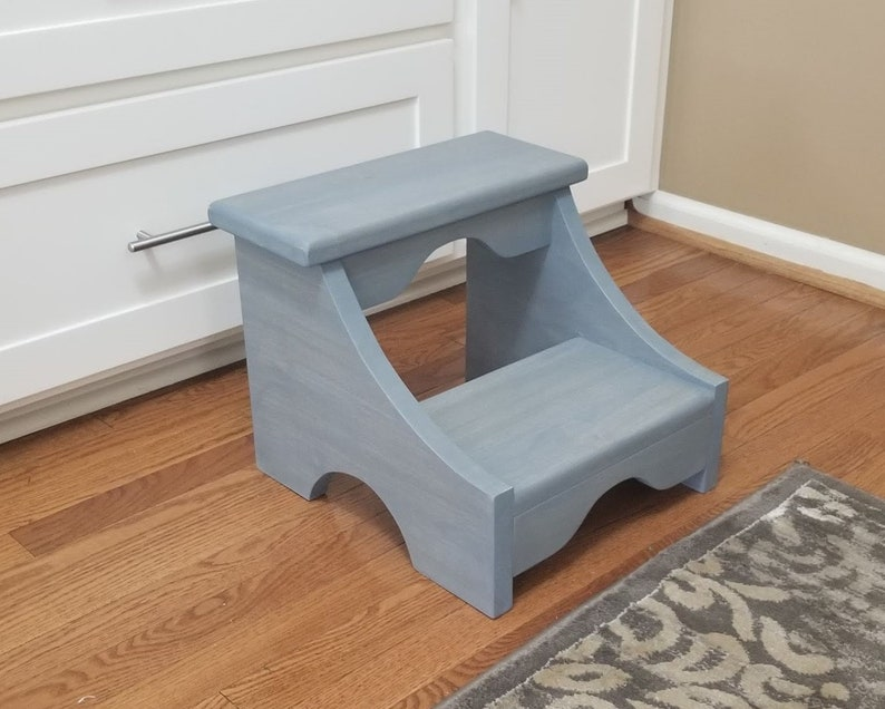 Sensational Large Step Stool The Dover Wood Step Stool Kitchen Step Stool Bathroom Step Stool Bed Step Stool Kids Step Stool 2 Step Stool Sturdy Creativecarmelina Interior Chair Design Creativecarmelinacom