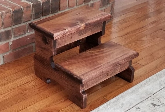 Fantastic Large Step Stool The Essex Wood Step Stool Kitchen Step Stool Bathroom Step Stool Bed Step Stool Kids Step Stool 2 Step Stool Sturdy Creativecarmelina Interior Chair Design Creativecarmelinacom
