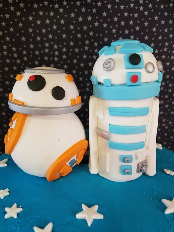 Star Wars Cake Toppers Star Wars Fondant Star Wars Cake Decorations Bb8 Cake Bb8 Fondant R2d2 Fondant R2d2 Cake Star Wars Edible